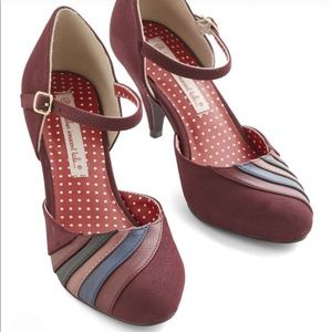 Harvest Display Heel in Berry -from ModCloth